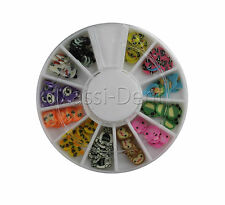 Fimo - bunt mix Nail Nailart Nagelstudio Strass Mix Tiere