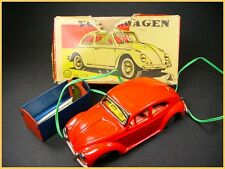 ASAHI battery operated Volkswagen Beetle VW, COX  Japan (antique Tin toy)