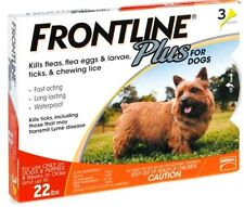 frontline plus for DOGS UNDER 22 lbs (3 months supply) flea and tick control