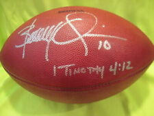 Brady Quinn Autograph on Authentic on the Field Cleveland Browns Wilson Football