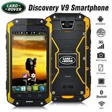 New Unlocked LAND ROVER Discovery V9 Yellow IP68 3G Rugged Smartphone Cell Phone