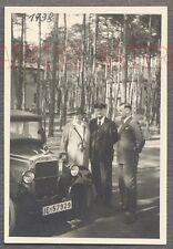Vintage Car Photo Woman & Men w/ BMW Dixi Automobile 735249