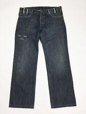 Cortigiani jeans uomo usato w40 tg 54 gamba dritta blu denim boyfriend T3422