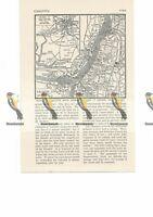 Calcutta (Kolkata), Map, India, Book Illustration, c1920