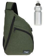 Rucksack Herren Sling Elephant One A4 USB Crossbody Eingurt Bag 12870 Oliv +f