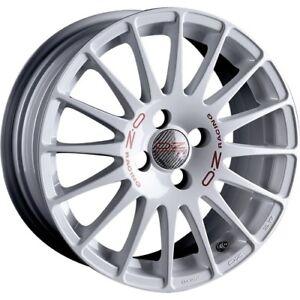 4x Alloy Wheels OZ Superturismo WRC 7x16 Inch ET37 4x100 White 60,1