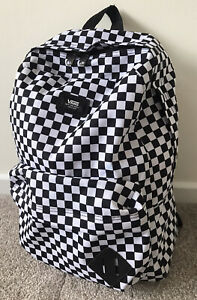 VANS Old Skool III Adjustable strap Backpack - Black-White Checkered