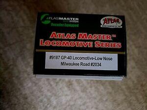 HO ATLAS MASTER MILWAUKEE ROAD GP40 ROAD #2034