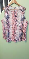 LADIES SUMMER TOP BY AVON SIZE 24 NEW FROM A SMOKE 3 HOME VGC