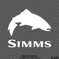 Simms Fishing Outdoor Sports Trout Vinyl Decal Sticker - Choose Color