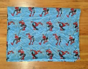 Marvel Ultimate Spider Man Twin Sized Flat Sheet Spider Webs 2004 Fabric