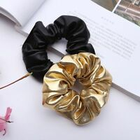 Women Girls Hair Band Rope Scrunchie Elastic Tie Glitter Ponytail Holder