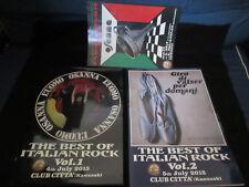 Best Italian Rock 1,2 2015 Japan Tour Program Lot w Flyer Arti & Mestieri Osanna