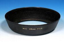 Ø28mm Sonnenblende Gegenlichtblende lens hood pare solei MC F2.5 - (90883)