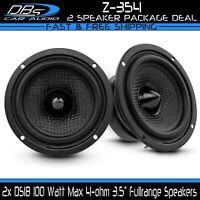 """2x DS18 Z-354 3.5"""" Fullrange Car Stereo Dash Speaker 100W 4-ohm Mid High Range"""