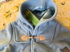 Mongomeri cappotto lana bimbo neonato Benetton azzurro celeste 6-9 mesi 68 nuovo