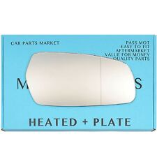 Right side Wide Angle Wing mirror glass for Kia Magentis 2006-10 heated + plate