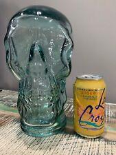 Realistic Skull Decor Human sized 100% recycled Blue glassHalloween Decor