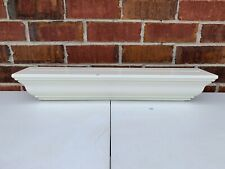 "LOT OF 3 POTTERY BARN WOOD FLOATING 24"" WHITE WALL SHELVES CORNICE MOLDING SHELF"