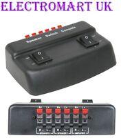 2 WAY PAIR STEREO SPEAKER LOUDSPEAKER SELECTOR SPLITTER SWITCH BOX 100W