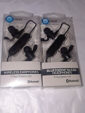 2 Onn Bluetooth in ear headphones  Micro-USB Charging wireless