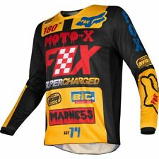 Taglia L - Maglia Uomo Fox Racing 180 Czar Black Yellow Cross Enduro Casacca