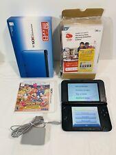 Nintendo 3DS XL Handheld Console - Blue, Used, W/ Box, & Mario Sonic Olympics