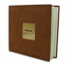 """Suede Cover Rusty Bronze Photo Album, Holds 200 4""""x6"""" pictures  2 per page"""