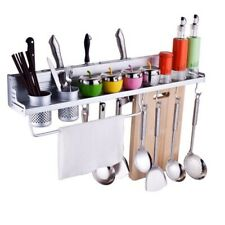Aluminum Kitchen Utensils Storage Shelf Rack