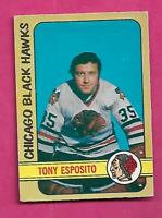 1972-73 OPC # 137 HAWKS TONY ESPOSITO GOALIE GOOD CARD (INV# C1806)