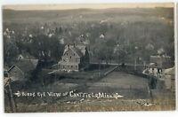 RPPC Birdseye View of CHATFIELD MN Vintage Minnesota Real Photo Postcard