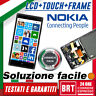 DISPLAY LCD+TOUCH SCREEN+FRAME PER NOKIA LUMIA 830 N830 SCHERMO VETRO NERO_24H!!