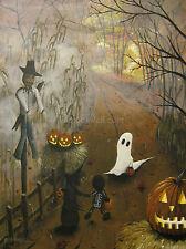 J A Blackwell art print SIGNED Halloween Fantasy Folk Ghost Fall Autumn Witch