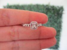 .12 CTW Diamond Ring 14k White Gold JS95R sep