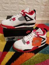 Nike Air Jordan 4 Retro 'Fire Red' White/Fire-red/Black/Tech Grey Size 8UK