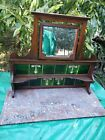 Victorian Marble Wood Sideboard Top With Mirror