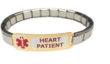Heart Patient 9mm Italian Charm Medical Alert Shiny Starter Bracelet