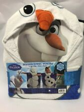 Disney Frozen OLAF Hooded Kids Bath Towel Beach Swimming Pool 100% Cotton