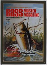 Bass Master Fish Jumping Winter Magazine Issue Fishing Metal Sign