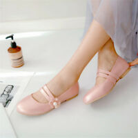 Women's Floral Ballet Flats Round Toe Pumps Flat Comfy Casual Shoes Slip On Size