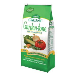 Organic Garden Tone Plant Food Natural Herb Vegetable Fertilizer 8 lbs ESPOMA