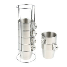 6Pcs Thermal Travel Mug Stainless Steel Insulated Coffee Water Tea Cup 300ml