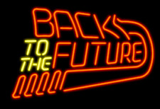 """New Back To The Future Neon Light Sign 17""""x14"""" Real Glass Bar Beer Arcade"""