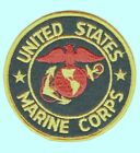 USMC Marine Patch:  United States Marine Corps - red/gold EGA on black felt