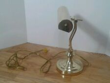 Vintage Brass Piano Lamp Adjustable Arm Bankers Desk Lamp