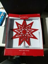 Wondershop Unlit Retro Red Metal Christmas Tree Topper Star Clip 12� Target New