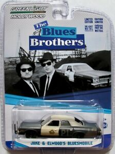 """1974 Dodge Monaco Bluesmobile  """"The Blues Brothers"""" / Greenlight Hollywood 1:64"""