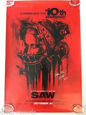 Saw 10th Ann. Signed Autogragh Torbin Bell One Sheet Original Movie Poster JSA