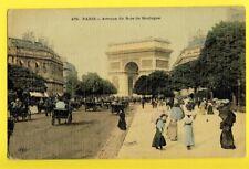 cpa Toilée PARIS Avenue du BOIS de BOULOGNE à Mr VIALLET Pharmacien à GRENOBLE