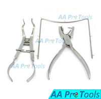 Endodontic Ainsworth Punch Hole Plier Rubber Dam Frame Ivory Light Clamp Forceps